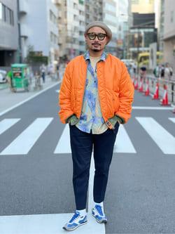 ALPHA SHOP渋谷店のKataoka.RさんのALPHAの【試着対象】【期間限定10%OFF】MA-1 BLOODCHIT フライトジャケットを使ったコーディネート