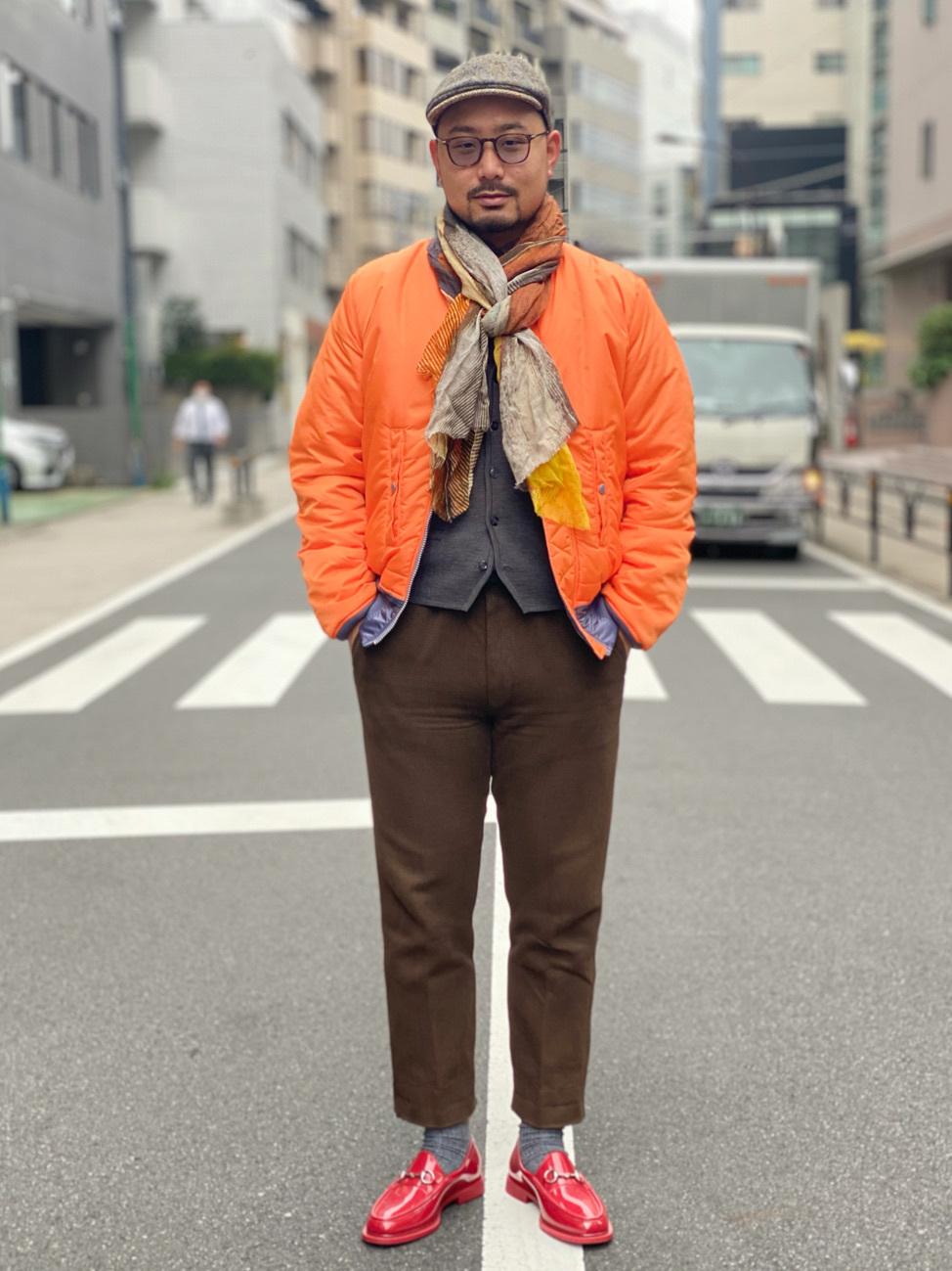 ALPHA SHOP渋谷店のKataoka.RさんのALPHAのMA-1 タイト ジャケット【ユニセックス】を使ったコーディネート