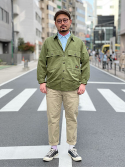 ALPHA SHOP渋谷店のKataoka.RさんのALPHAのイージーベーカーパンツ/シェフパンツを使ったコーディネート
