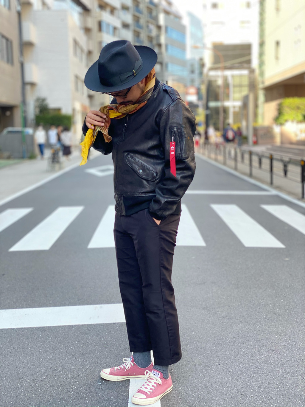 ALPHA SHOP渋谷店のKataoka.RさんのALPHAのレザーL-2Bを使ったコーディネート