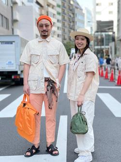 ALPHA SHOP渋谷店のKataoka.RさんのALPHAのファティーグシャツを使ったコーディネート