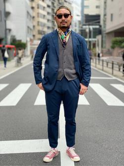 ALPHA SHOP渋谷店のKataoka.RさんのALPHAの【期間限定20%OFF】【Begin 12月号掲載】アンコンジャケットを使ったコーディネート