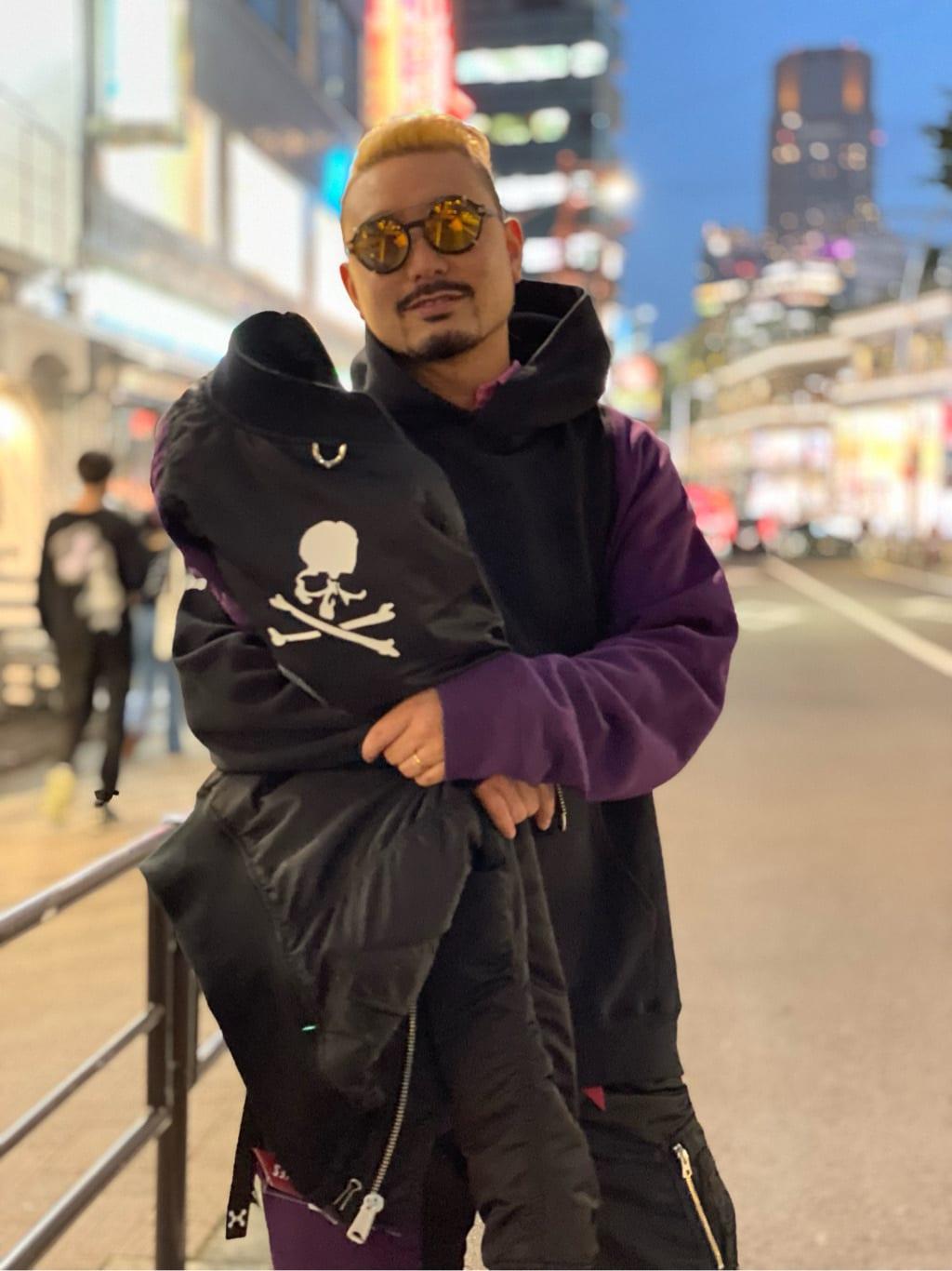 ALPHA SHOP渋谷店のKataoka.RさんのALPHAの【C2H4 × MASTERMIND × ALPHA】MA-1 Bomber Jacketを使ったコーディネート
