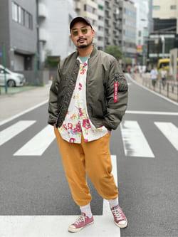ALPHA SHOP渋谷店のKataoka.RさんのALPHAの【予約割】MA-1 ナイロンジャケット U.S.サイズ【10月上旬頃発送予定】を使ったコーディネート