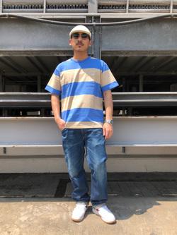 ルミネエスト新宿店のHibikiさんのLeeの終了【サマーセール】【男女兼用】ボーダーTシャツ 半袖を使ったコーディネート