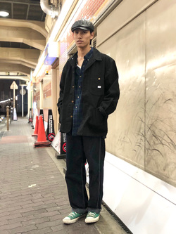 大阪店のShotaさんのLeeのカバーオールジャケットを使ったコーディネート