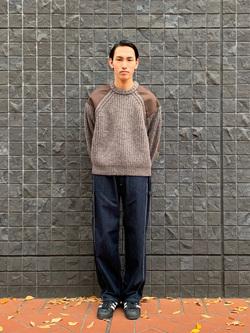 大阪店のShotaさんのLeeの【ユニセックス】DUNGAREES ペインターパンツを使ったコーディネート