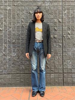 大阪店のスミタさんのLeeのAMERICAN RIDERS 202 ベルボトムジーンズを使ったコーディネート