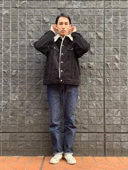 大阪店のShotaさんのLeeのBOA STORM RIDER ジャケット【コーデュロイ】を使ったコーディネート