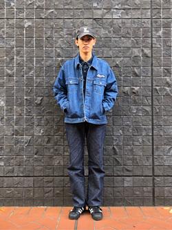 大阪店のShotaさんのLeeの【トップス15%OFFクーポン対象】LEE PIPES ビッグフィット バギージャケットを使ったコーディネート