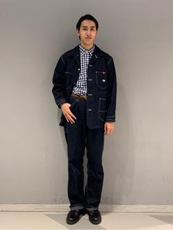 大阪店のスミタさんのLeeのカバーオールジャケットを使ったコーディネート