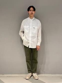 大阪店のスミタさんのLeeの【SALE】バンドカラーシャツ/長袖を使ったコーディネート