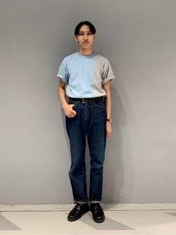 大阪店のスミタさんのLeeの【TOPS 15%OFFクーポン対象】【SALE】2トーン 半袖Tシャツを使ったコーディネート
