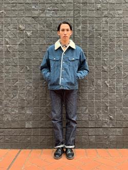 大阪店のShotaさんのLeeのARCHIVES 45s RIDERS 101B (RAW 生デニム)を使ったコーディネート