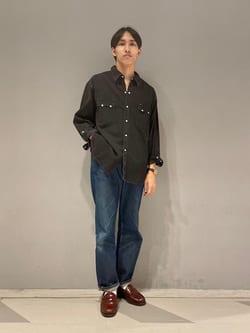 大阪店(閉店)のスミタさんのLeeのARCHIVES REAL VINTAGE 101Z 1952年復刻モデル (RAW 生デニム)を使ったコーディネート