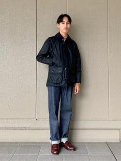 ルクア大阪のスミタさんのLeeのARCHIVES RIDERS 101B 1950S デニムパンツを使ったコーディネート