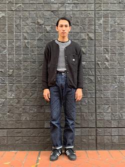 大阪店のShotaさんのLeeの【ユニセックス】【やわらかフリース】ノーカラージャケットを使ったコーディネート