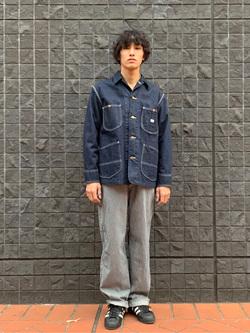 大阪店のスミタさんのLeeの【年間ベストセラー】オーバーオールを使ったコーディネート