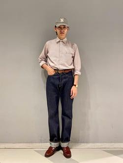 大阪店(閉店)のスミタさんのLeeの【Archives】WWII 大戦モデル101 COWBOY PANTSを使ったコーディネート