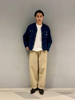 大阪店のスミタさんのLeeの【SALE】ポケット付き 半袖Tシャツを使ったコーディネート