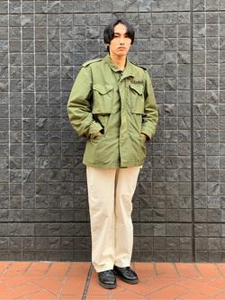大阪店のスミタさんのLeeの【ユニセックス】DUNGAREES ペインターパンツを使ったコーディネート