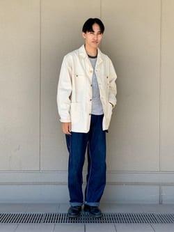 ルクア大阪のスミタさんのLeeのカバーオールジャケットを使ったコーディネート