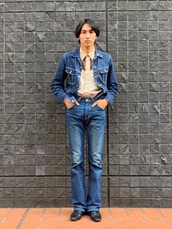 大阪店のスミタさんのLeeの【Winter sale】AMERICAN RIDERS 102 ブーツカットジーンズを使ったコーディネート