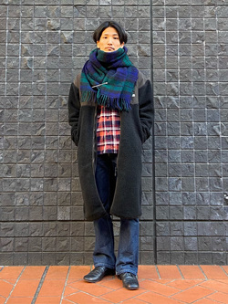大阪店のサカモトヒロシさんのLeeの【Pre sale】チェックワークシャツ 長袖を使ったコーディネート