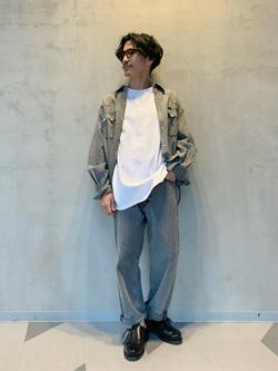 大阪店のサカモトヒロシさんのLeeのラウンドヘム 半袖Tシャツを使ったコーディネート