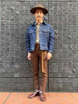 大阪店のサカモトヒロシさんのLeeの【Winter sale】101 PROJECT RIDERS JACKETを使ったコーディネート