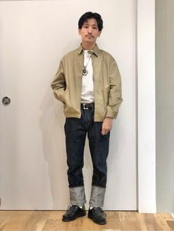 LINKS UMEDA店のサカモトヒロシさんのEDWINの【コンセプトショップ限定】ZIP UP JKTを使ったコーディネート