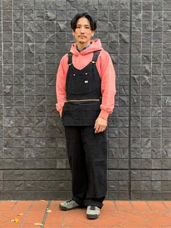 大阪店のサカモトヒロシさんのLeeの【トップス15%OFFクーポン対象】【USED WASH】スウェットパーカーを使ったコーディネート
