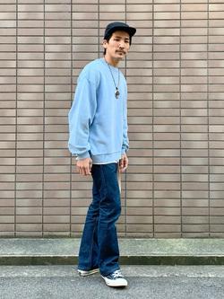 大阪店のサカモトヒロシさんのLeeのAMERICAN RIDERS 202 ベルボトムジーンズを使ったコーディネート
