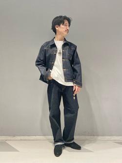 大阪店のサカモトヒロシさんのLeeのポケット付き 半袖Tシャツを使ったコーディネート