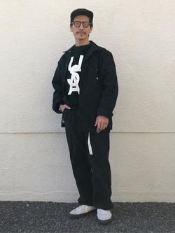 大阪店のサカモトヒロシさんのLeeのカバーオールジャケットを使ったコーディネート