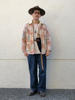 大阪店のサカモトヒロシさんのLeeの【Pre sale】【オーガニックコットン素材】ワッフル ベーシック長袖Tシャツを使ったコーディネート