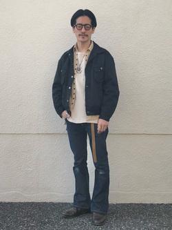 大阪店のサカモトヒロシさんのLeeの【SPRING SALE】【オーガニックコットン素材】ワッフル ベーシック長袖Tシャツを使ったコーディネート
