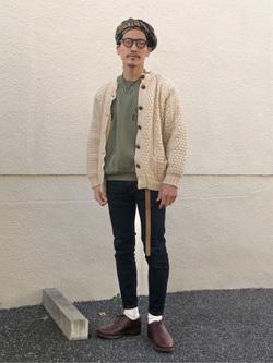 大阪店のサカモトヒロシさんのLeeの【超快適ストレッチ】すっきり細身スキニーパンツを使ったコーディネート