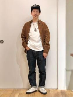 LINKS UMEDA店のサカモトヒロシさんのEDWINのボタンダウンシャツ 長袖(コーデュロイ)を使ったコーディネート