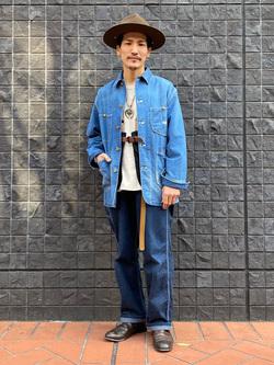 大阪店のサカモトヒロシさんのLeeのARCHIVES 50S 91J LOCO JACKETを使ったコーディネート