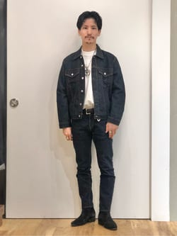 LINKS UMEDA店のサカモトヒロシさんのEDWINのデニム ジャケットを使ったコーディネート