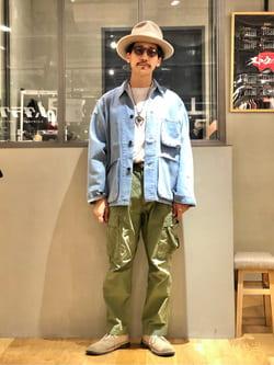 LINKS UMEDA店のサカモトヒロシさんのEDWINの【直営店限定商品】デニム カバーオールジャケットを使ったコーディネート