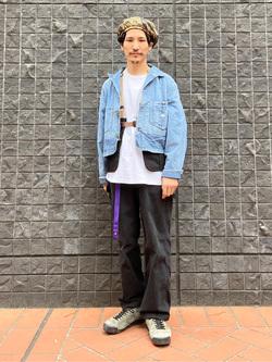 大阪店のサカモトヒロシさんのLeeの【ユニセックス】DUNGAREES ペインターパンツを使ったコーディネート