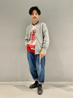 大阪店のサカモトヒロシさんのLeeの【SPRING SALE】スナップボタン スウェットジャケット/カーディガンを使ったコーディネート