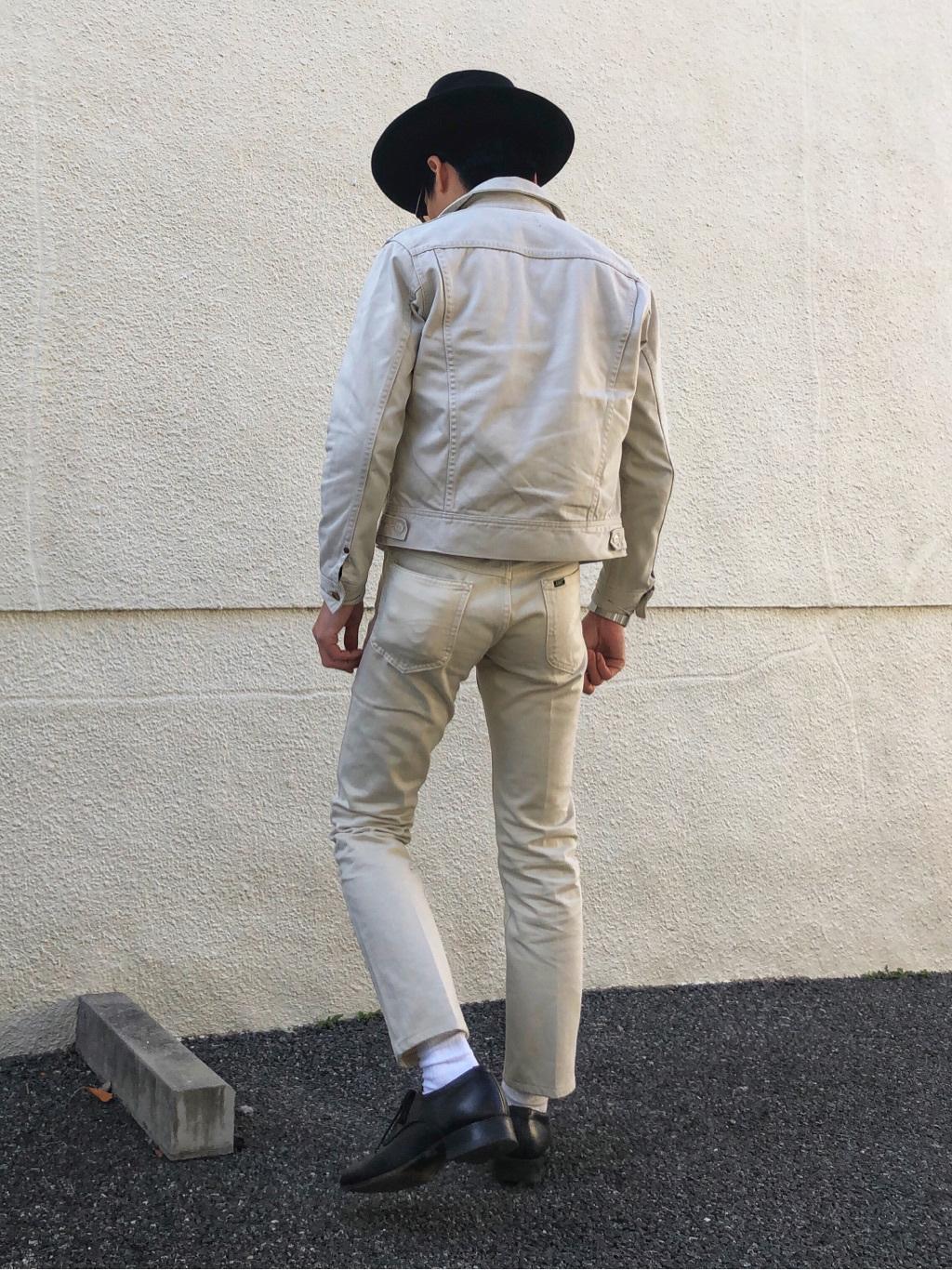 大阪店のサカモトヒロシさんのLeeのAMERICAN STANDARD 205 タイトストレート  サテンを使ったコーディネート