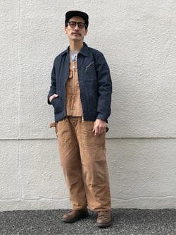 大阪店のサカモトヒロシさんのLeeの【narifuri×Lee】91B 高耐久ストレッチワークジャケットを使ったコーディネート