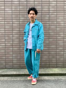 大阪店のサカモトヒロシさんのLeeの【セットアップ対応】ルーズテーパード ペインターパンツを使ったコーディネート