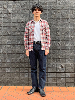 大阪店のサカモトヒロシさんのLeeの終了【Winter sale】ワークシャツ 長袖を使ったコーディネート