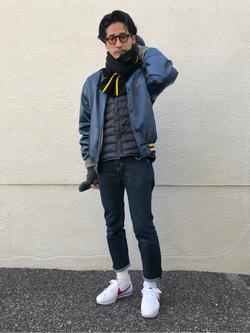 大阪店のサカモトヒロシさんのLeeのAMERICAN RIDERS 205 タイトストレートを使ったコーディネート