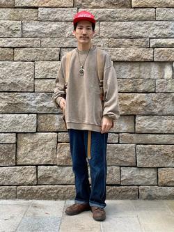 大阪店のサカモトヒロシさんのLeeのクルーネックスウェット/トレーナーを使ったコーディネート